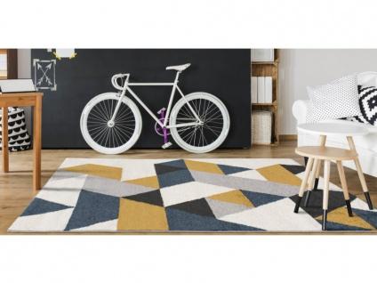 Teppich Skandinavisch GEOMIE - Polypropylen - 120 x 170 cm - Gelb, Grau & Blau