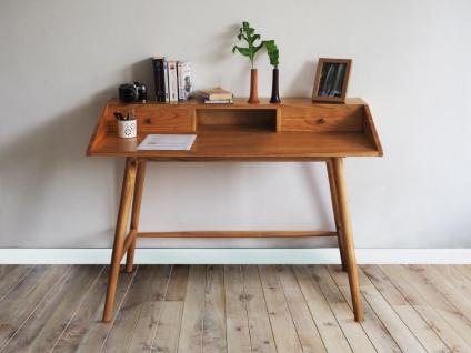 Schreibtisch DINIO - 2 Schubladen & 1 Ablage - Mindiholz