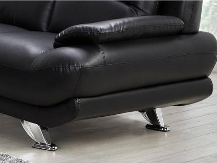 Sofa 2-Sitzer MUSKO - Schwarz - Vorschau 3
