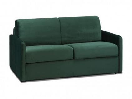 Schlafsofa 2-Sitzer Samt CALIFE - Tannengrün - Liegefläche: 120 cm - Matratzenhöhe: 22cm