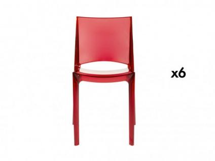 Stuhl 6er-Set Helly - Rot