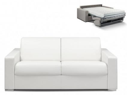 Schlafsofa 3-Sitzer CALITO - Weiß - Liegefläche: 140 cm - Matratzenhöhe: 18cm