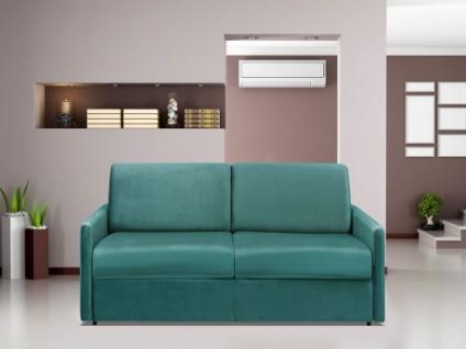 Schlafsofa 3-Sitzer Samt CALIFE - Minzgrün - Liegefläche: 140 cm - Matratzenhöhe: 14cm