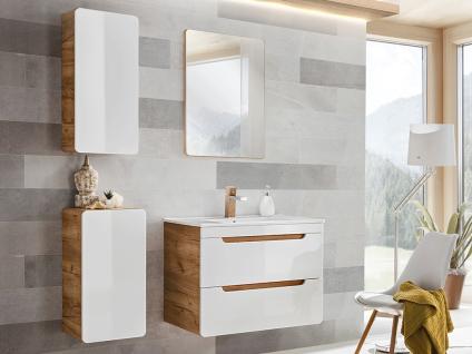 Komplettbad mit Einzelwaschbecken ARUBA - Weiß - Breite: 80 cm - Vorschau 3