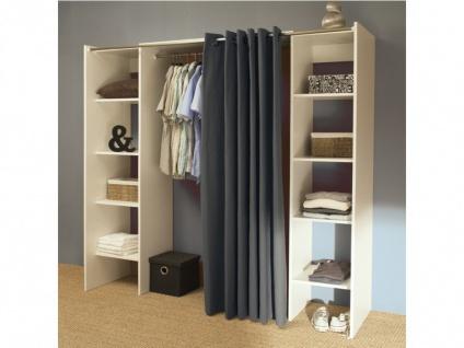 Kleiderschrank Kleiderschranksystem Emeric - Weiß & Anthrazit - Vorschau 3