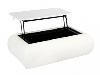 Couchtisch Laureen - Höhenverstellbar - Weiß