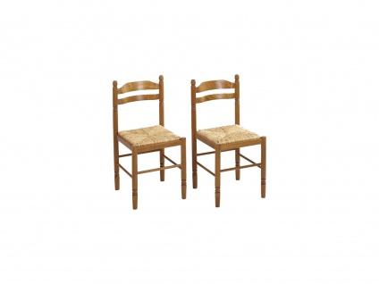 Stuhl 2er-Set Massivholz Jeanne