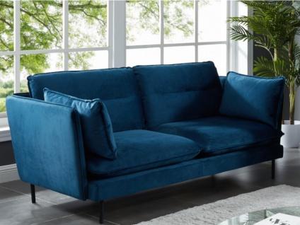 2-Sitzer-Sofa Samt MONVAL - Blau