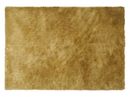 Hochflor-Teppich GLITTER - Goldfarben - 160x230 cm