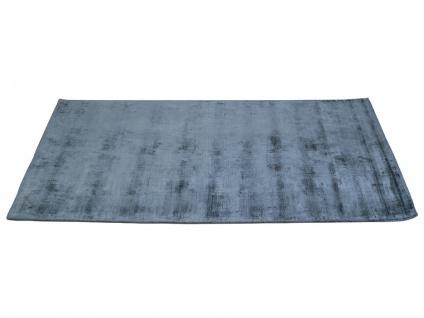 Teppich LOUVAIN - 100% Viskose - 160x230 cm - Dunkelblau - Vorschau 5