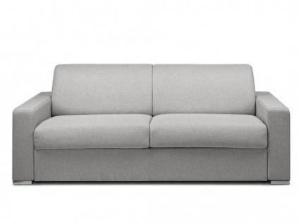 Schlafsofa 4-Sitzer Stoff CALITO - Grau - Liegefläche: 160 cm - Matratzenhöhe: 18cm