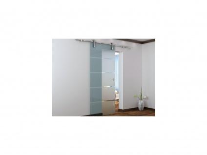 Glasschiebetür Stahl GLASSY - H 205 x B 83 cm