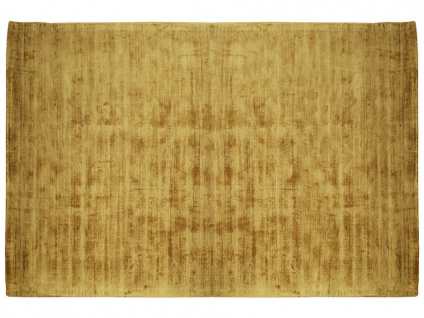 Teppich LOUVAIN - 100% Viskose - 160x230 cm - Senfgelb