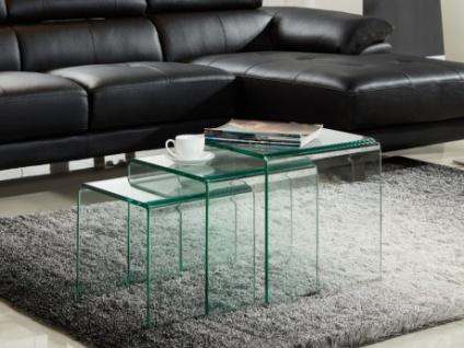 Beistelltisch 3er Set Glas Design Minka Kaufen Bei Kauf Unique De