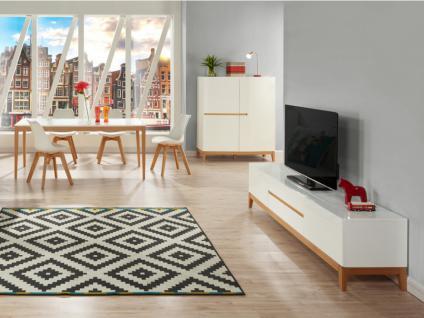 TV-Möbel Hochglanz SEDNA - Weiß-Holzfarben - Vorschau 2