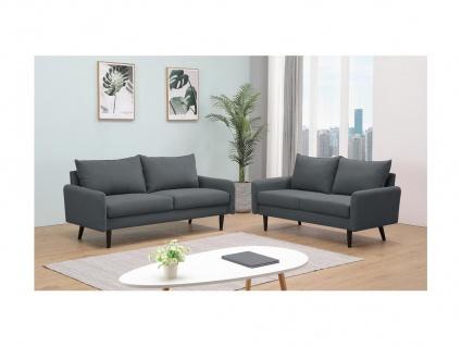 Couchgarnitur 3+2 HALIA - Stoff - Grau