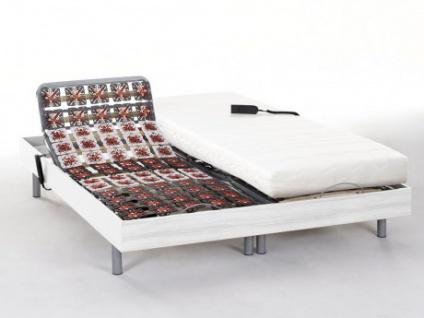 Matratzen elektrischer Lattenrost 2er-Set PERSEE von DREAMEA - Weiß - 2x80x200 - Okin-Motor