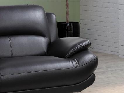 Sofa 2-Sitzer MUSKO - Schwarz - Vorschau 2