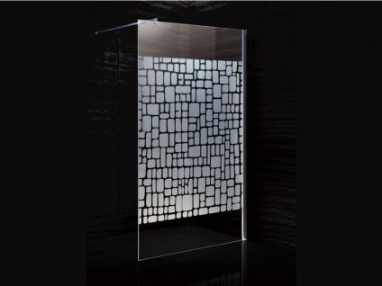 Duschtrennwand Seitenwand italienische Dusche Laura - 140x190cm