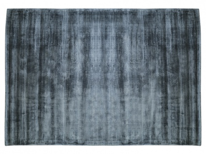 Teppich LOUVAIN - 100% Viskose - 200x290 cm - Dunkelblau - Vorschau 1