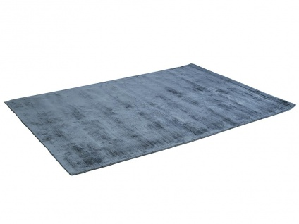 Teppich LOUVAIN - 100% Viskose - 200x290 cm - Dunkelblau - Vorschau 3