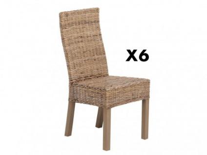 Stuhl 6er-Set Holz HEVEA II