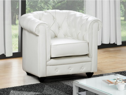 Sessel CHESTERFIELD - Weiß