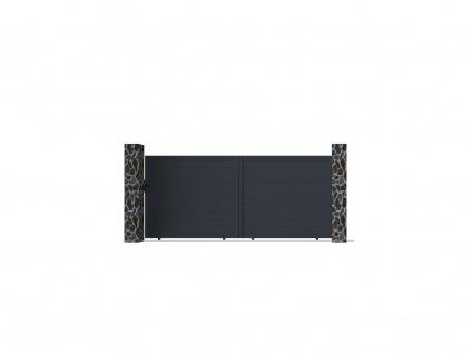 Gartentor Schiebetor NAZARIO - Aluminium - B392 x H173 cm