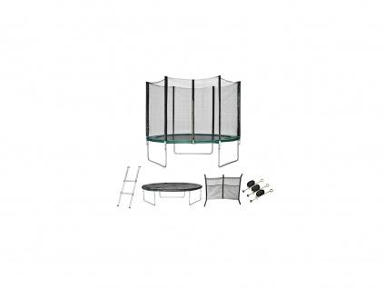 Trampolin mit Netz, Leiter und Verankerungssatz KANGA - D. 244 cm