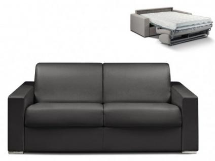 Schlafsofa 3-Sitzer CALITO - Schwarz - Liegefläche: 140 cm - Matratzenhöhe: 18cm