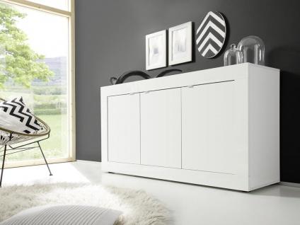 Sideboard COMETE - Weiß lackiert & Betonfarben - Vorschau 5