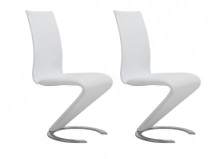 Stuhl 2er-set Twist - Weiß - Vorschau 2