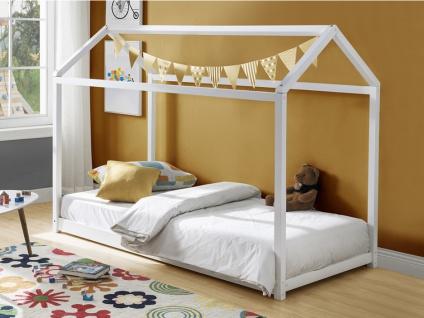 Kinderbett Hausbett AVENTURIER - 90x190cm - Weiß