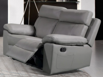 Relaxsofa 2-Sitzer WIGAN - Grau