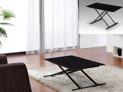 Tisch Glas Stahl Crescendo - Höhenverstellbar - Schwarz