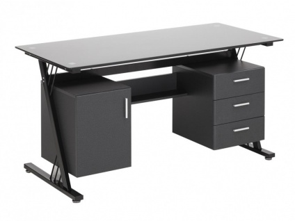 Computertisch Schreibtisch Glas Calydon