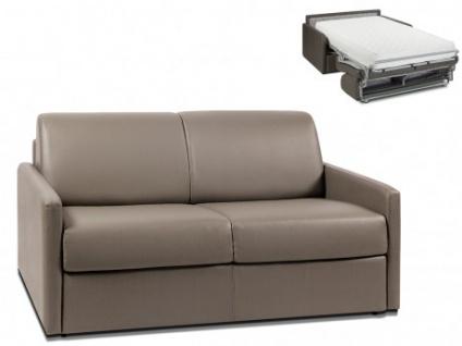 Schlafsofa 2-Sitzer CALIFE - Taupe - Liegefläche: 120 cm - Matratzenhöhe: 22cm