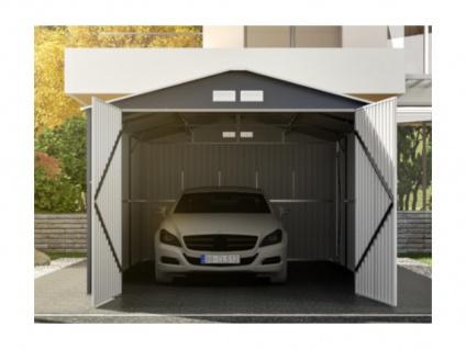 Garage NERON - Stahl - Grau - 18, 7 m² - Vorschau 2