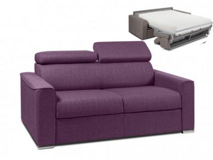 Schlafsofa 2-Sitzer Stoff VIZIR - Violett - Liegefläche: 120cm - Matratzenhöhe: 22cm