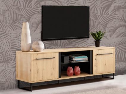 TV-Möbel PHILADELPHIE - 2 Türen & 2 Ablagen - Eichenholzfarben