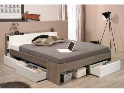 einzelbett mit stauraum, parisot bett mit stauraum most - verstellbar 160x200 - taupe, Design ideen