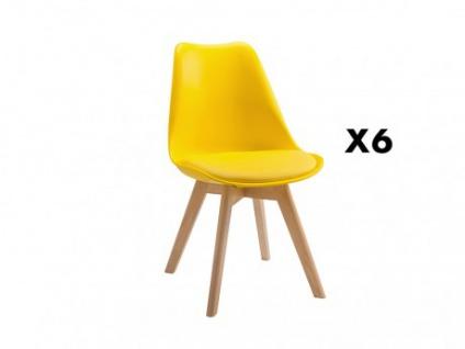 Stuhl 6er-Set Jaddy - Gelb