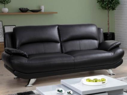 Sofa 3-Sitzer MUSKO - Schwarz