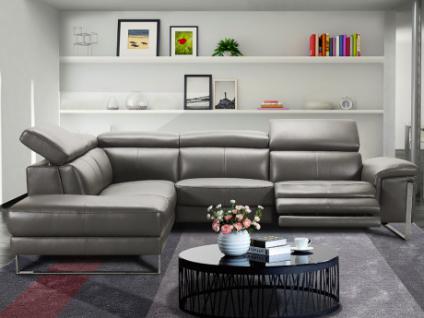 Relaxsofa Incliner Ecksofa Leder RIVAS - Ecke Links