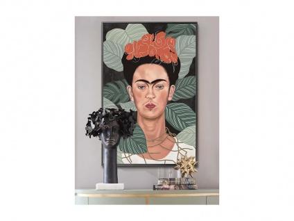 Kunstdruck gerahmt FRIDA - 60 x 90 x 2, 5 cm - Beige & Grün
