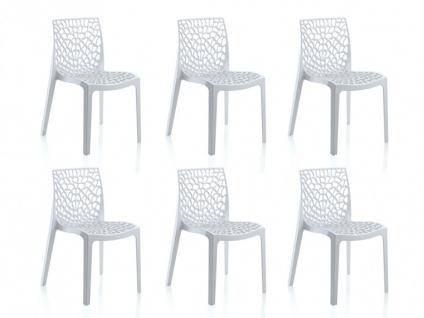 Stuhl 6er-Sets Diadem - Kunststoff - Weiß - Vorschau 5