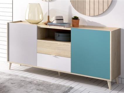 Sideboard BICA - 2 Türen & 2 Schubladen - Mehrfarbig