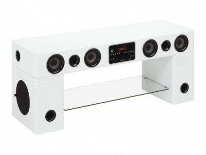 TV-Möbel Soundboard Watts III - Weiß