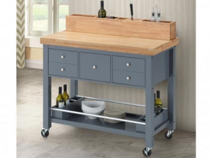 Küchenwagen Holz auf Rollen AROMATA - 5 Schubladen - Kaufen bei Kauf ...