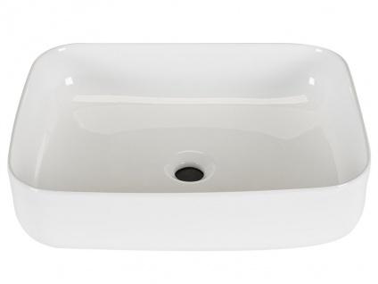 Waschbecken rechteckig JUNIKO - Weiß - Vorschau 3